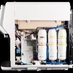 Rodzaje systemów filtrujących zastosowane w bezbutlowych dystrybutorach filtrujących wodę.